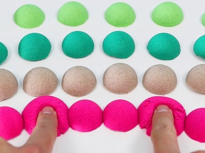 How to Make Colorful KINETIC SAND Balls | DIY Fun & Satisfying SQUISHING Sand Art!