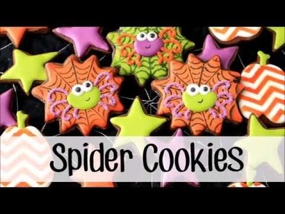 How to Make Decorated Spider and Spiderweb Cookies