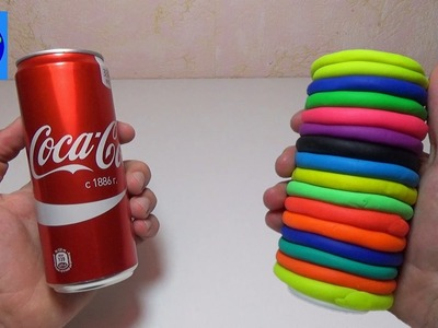 How To Make DIY Rainbow Play Doh & Coca Cola | Learn Colors For Children