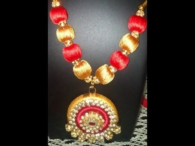How to make festival ware silk thread necklace