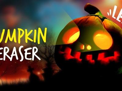 How To Make Halloween Pumpkin Eraser !! LED Halloween Eraser