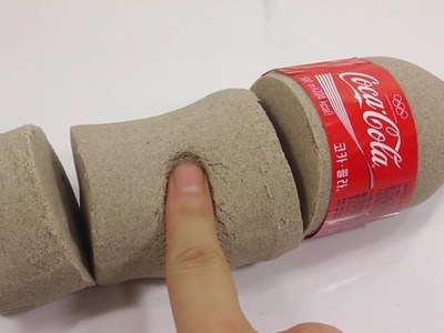 How To Make 'Kinetic Sand Coca Cola' Learn Colors Slime Foam Clay Icecream