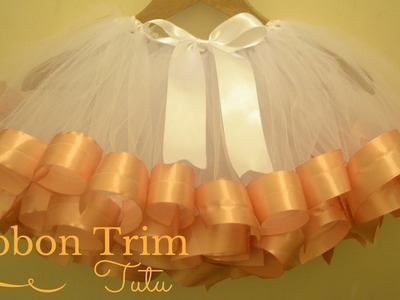 How to Make Ribbon Trimmed Tutu Skirt: DIY Tutu Skirt