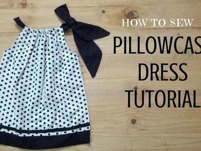 How to sew a Pillowcase Dress Tutorial | DIY - Make Simple Polkadots Pillowcase Dress