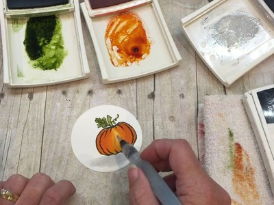 How to watercolor a pumpkin card and an eyeball treat with Stampin Up's Jar of Haunts!