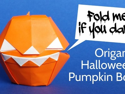 Scary Origami Pumpkin Box - DIY Halloween Decoration