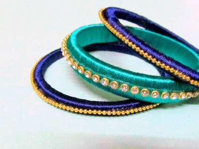 Silk Thread Bangles || Easy and Simple DIY Fancy Bangles || DIY DIWALI