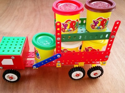 Teach Kids how to assemble a toy truck. Part 06. New version.
