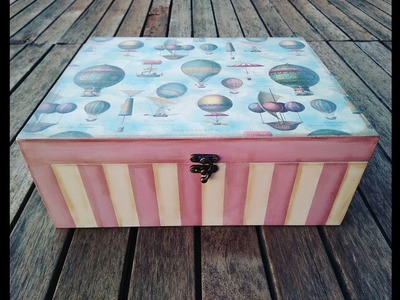 Caja Vintage decorada.vintage box decorated (collab with DIY ANNA)