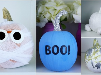 CHEAP & EASY DIY PUMPKIN DECORATING IDEAS #1 | PINTEREST INSPIRED