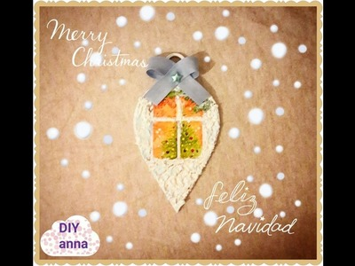 Christmas decoupage wooden ornament DIY ideas decorations craft tutorial. URADI SAM