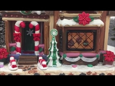 Christmas Village Displays at Michaels - Lemax houses Christmas Model Town 2016