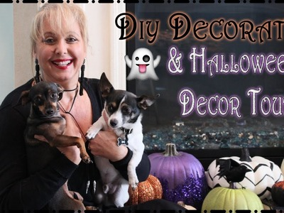 DIY Decorating.Halloween Decor Tour