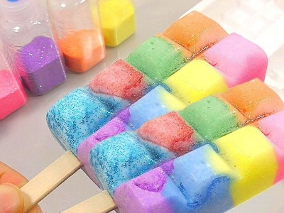 DIY How To Make Rainbow Glitter Ice Cream Slime Freeze Toy   BINGO Nursery Rhymes for Kids Children