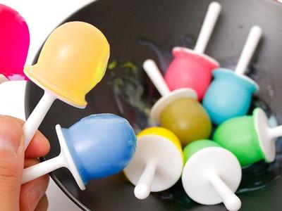 DIY How to make 'Rainbow ZOKU POP icecream' Learn Colors Car Toy