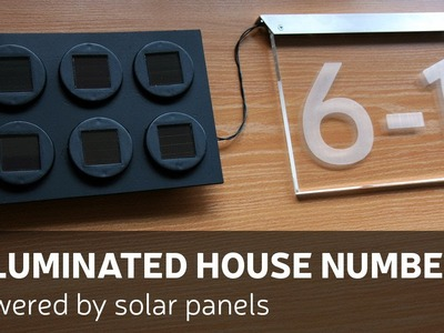DIY: Illuminated House Number Powered By Solar Panels