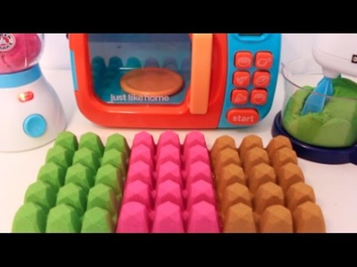 DIY Microwave Blender Kitchen Toy Appliances  How To Make Kinetic Sand Colors Balls Learn Colors