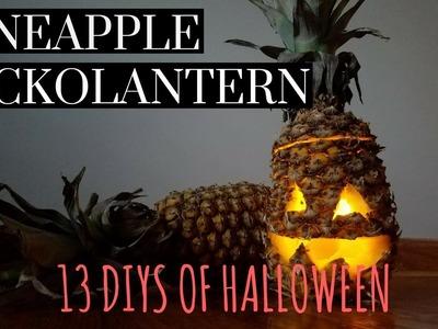 DIY Pineapple Jackolantern   13 DIYS of Halloween