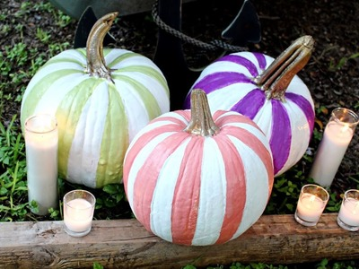 DIY Striped Pumpkins - HGTV Handmade