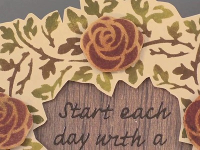 Fall Look: Lace Technique with Stencils - Paper Wishes Weekly Webisodes