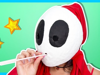 HOW TO BE SHY GUY! - Paper Mario: Color Splash - Shy Guy Mask DIY