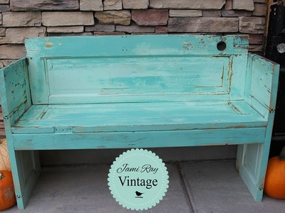 How to build a bench out of an old Door | DIY Bench | Jami Ray Vintage