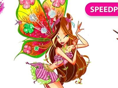 How to draw Flora Believix from Winx Club | Speedpainting