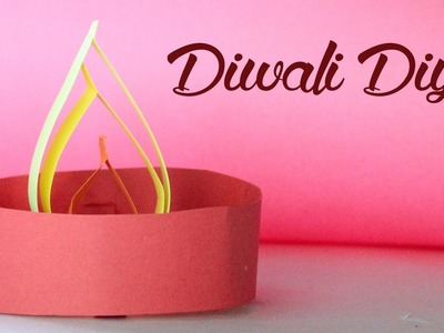 How To Make Diwali Diya Using Craft Paper | DIY Crafts For Kids