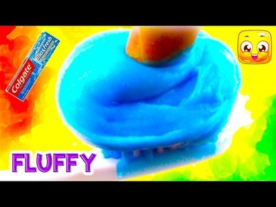 How to make slime with Toothpaste and Glue DIY Fluffy Slime No Borax, Liquid Starch, Baking Soda