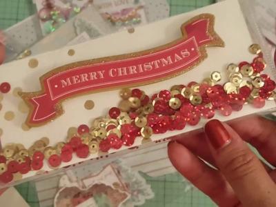 No peeking Chandi!! Christmas shaker gift card holder swap with Favored Favors