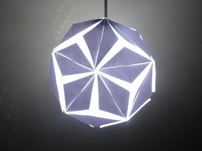 Paper Craft (Home Decoration Ideas): Beautiful 5 Petal Paper Lantern- Christmas Decor