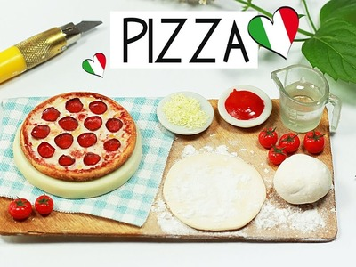 Polymer clay Pizza Baking Scene TUTORIAL | polymer clay food