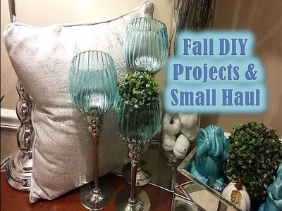 SMALL FALL HOME DECOR HAUL &  DIY PROJECTS  FALL HOME DECOR STYLING