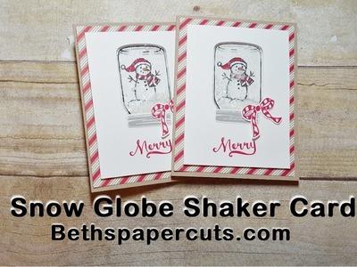 Snowman Snow Globe Shaker Card ~ Beth's Paper Cuts