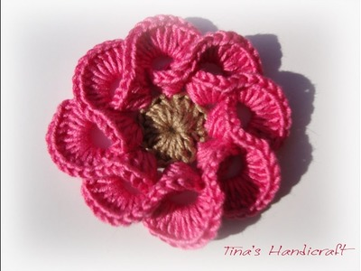 3D crochet flowers  multi petals