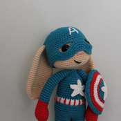 Captain America Bunny Amigurumi PDF Pattern / Captain America Hero Bunny - Beginner