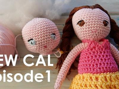 Crochet Amigurumi Doll CAL Ep1 - Head and Eyes