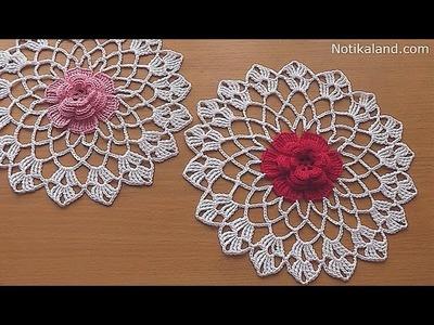 CROCHET doily Crochet flower Tutorial Part 2