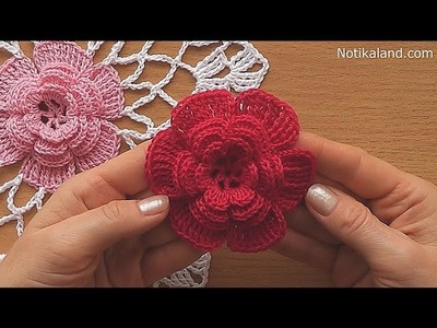 CROCHET doily Crochet flower Tutorial Part 1