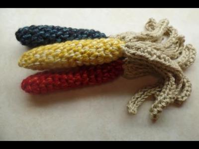 CROCHET How To #Crochet EASY FALL AUTUMN HARVEST INDIAN CORN TUTORIAL #345