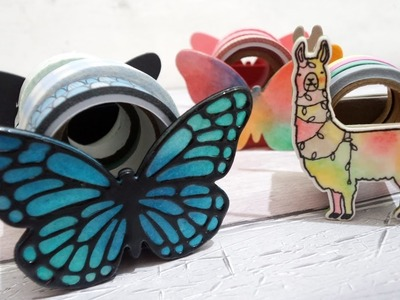 D.I.Y Crafting Tool - Washi Tape Dispenser.Holder(Stampin up Butterflies Dies)