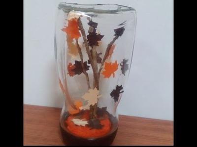 Decorative #Mason_Jars - #DIY #Room_Decor Ideas Using Mason Jars - Fall Crafts + #Tutorial .