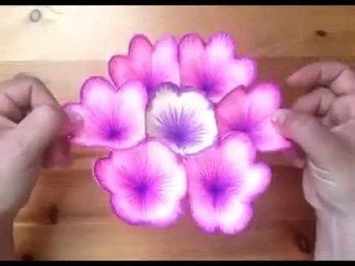 DIY 3D flower pop up card! By Vlechten Met Daan
