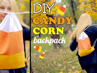 DIY Candy Corn Backpack – How To Make a Candy Corn Drawstring Bag