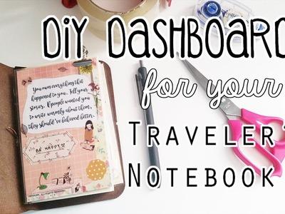 DIY Traveler's Notebook Dashboard Tutorial
