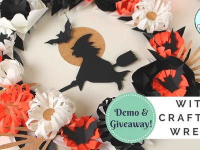 GIVEAWAY & DEMO!! Witch-Crafting Wreath Kit by Paper Source | How to Make A Wreath for Halloween