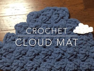 How to Crochet Cloud Mat - or small cloud (Cloud mat baby photo prop)