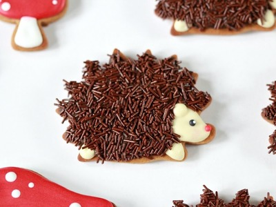 How to Decorate Hedgehog or Porcupine Cookies