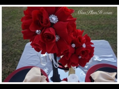 How To: DIY Quick Tip Rose Blossom Wedding Centerpiece