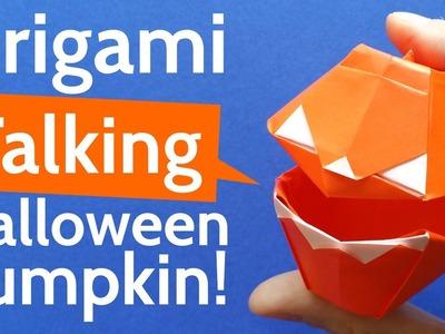 How to Make an Origami Talking Halloween Pumpkin - DIY Halloween Tutorial